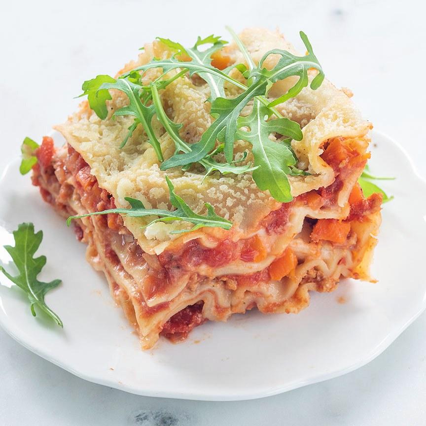 vegan lasagne bolognese www.leukerecepten.nl