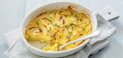 Gezonde light aardappelgratin