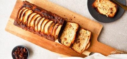 Glutenvrije appel cake met rozijnen