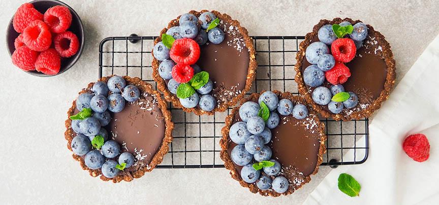 Glutenvrije chocolade taartjes