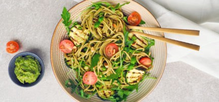 Vegan pasta pesto