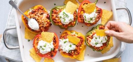 Recept Mexicaans gevulde paprika's met rijst