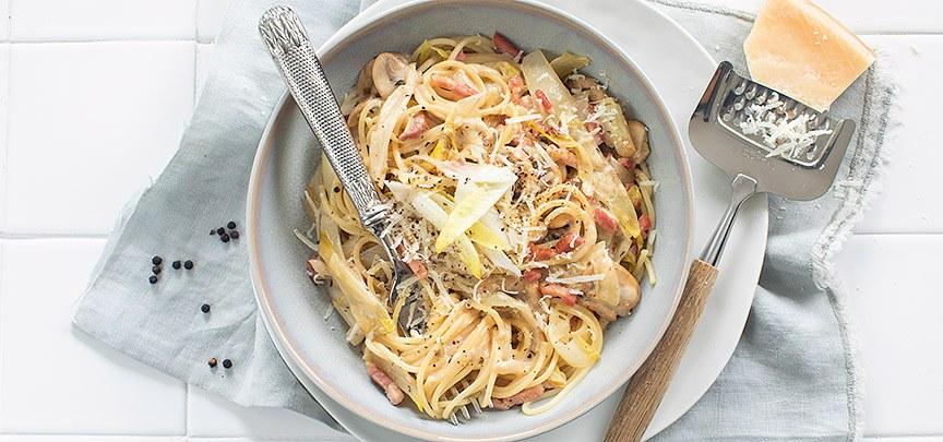 Spaghetti met witlof