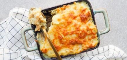 Gezonde mac and cheese met bloemkool