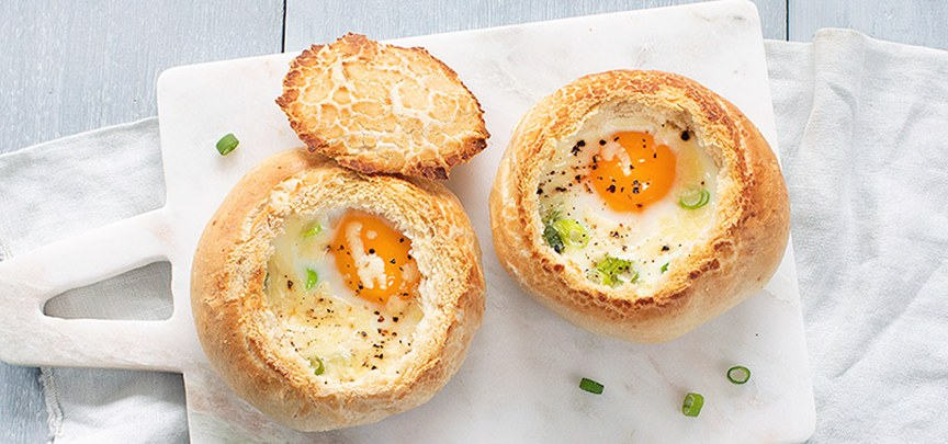 Broodjes gevuld met ei
