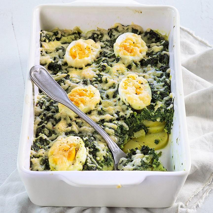 spinazie-schotel-met-ei