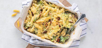 Pastaschotel met broccoli en kruidenroomkaas