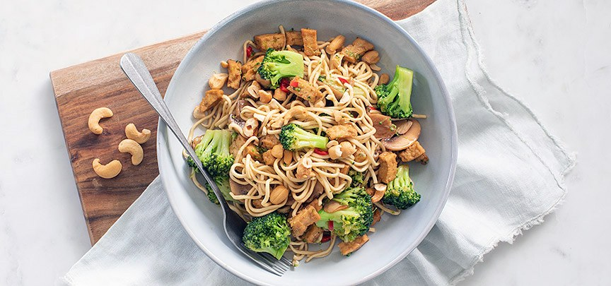 Noedels met tofu
