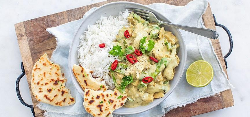 Groene curry met peultjes