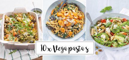 10 x vegetarische pasta's