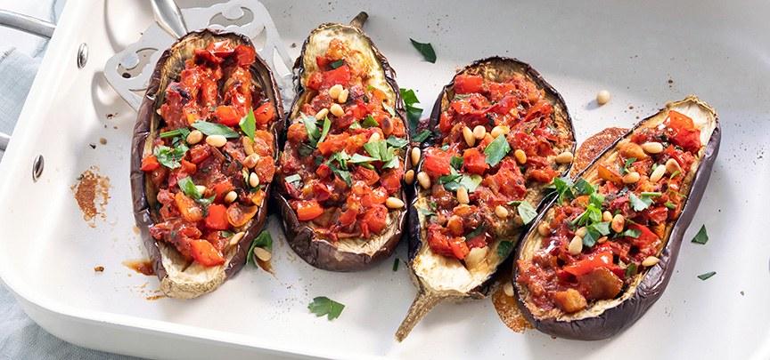 Imam bayildi (aubergine met tomaat)