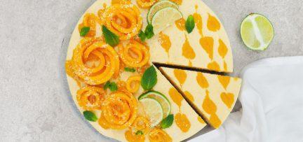Vegan kwarktaart met mango