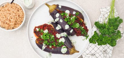 Zoutarm én lekker eten + recept kruidig gevulde aubergine