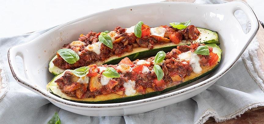 Italiaans gevulde courgette