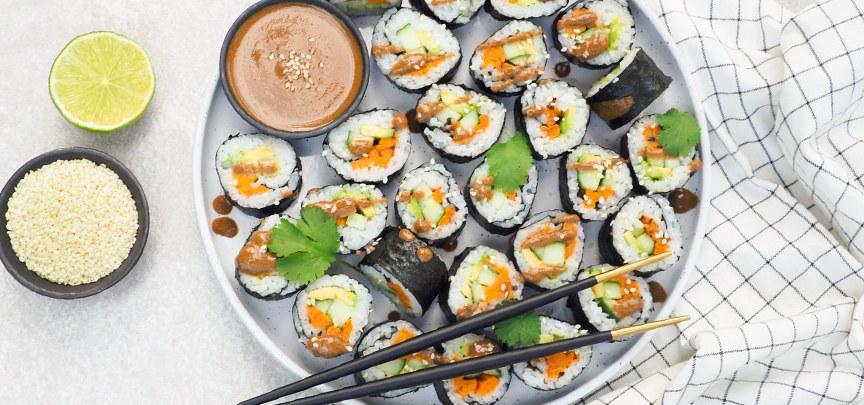 Vegetarische sushi