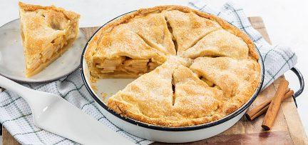 Amerikaanse appeltaart met dakje