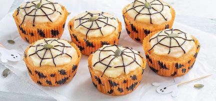 Pompoencakejes voor Halloween