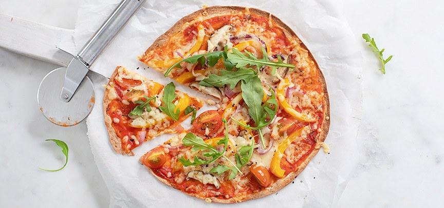Tortilla wrap pizza