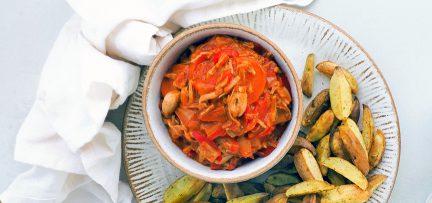Vegan stoofvlees van jackfruit