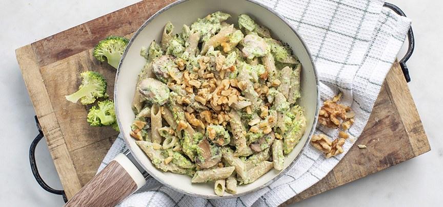 Pasta met romige broccolisaus