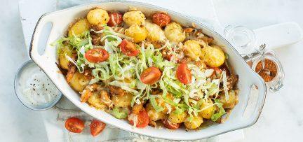 Gyros ovenschotel met aardappel
