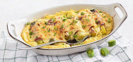 Ovenschotel met preirolletjes en kaas