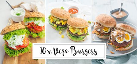 10 x vegetarische burgers