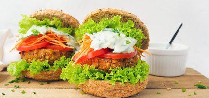 Vegetarische barbecue burgers