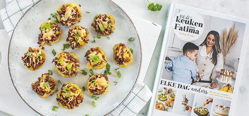 Gevulde aardappels met kefta uit het boek Elke dag anders
