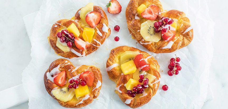 Deense broodjes met fruit