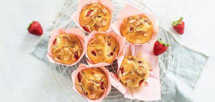 Aardbeien muffins