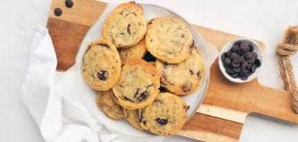 Vegan chocolate chip koekjes