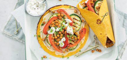 Wraps met gegrilde groenten